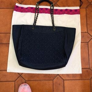 TORY BURCH DENIM TOTE Offers invited & encouraged!